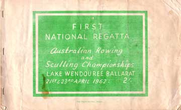 1962 National Rowing Championships Programme