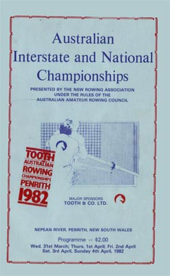 1982 programme cover