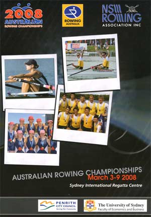 2008 National Rowing Championships Programme Cover