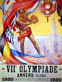 1920 Olympic poster