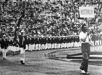 Flag bearer Mervyn Wood